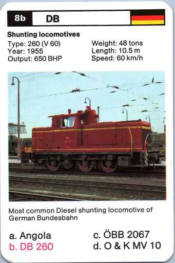 Top Trumps Locomotives - DB 260 - (Art.Nr.19)