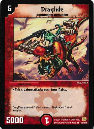 Duel Masters Draglide 75/110 Mint and Never Played
