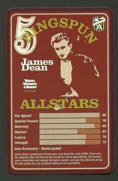 Top Trumps Ringspun allstars - James Dean - (Art.Nr.16)
