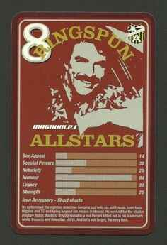 Top Trumps Ringspun allstars - Magnum P I Tom Selleck - (Art.Nr.21)