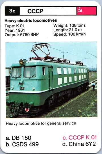 Top Trumps Locomotives - CCCP K 01 - (Art.Nr.28)