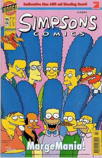 Simpsons Comics # 22 (Aug 1998): Marge Attacks.