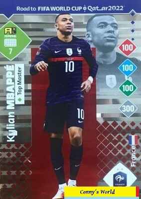 7 - Kylian Mbappé (France) - Top Master - ROAD TO FIFA WORLD CUP QATAR 2022