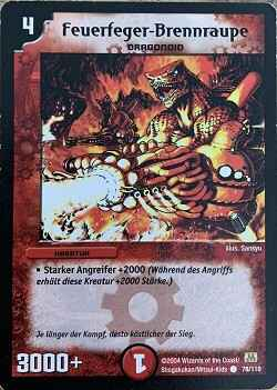 Duel Masters Feuerfeger-Brennraupe 78/110 Mint and Never Played (D)
