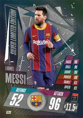 LE2S - Lionel Messi - Limited Edition - Silver - MACL20/21