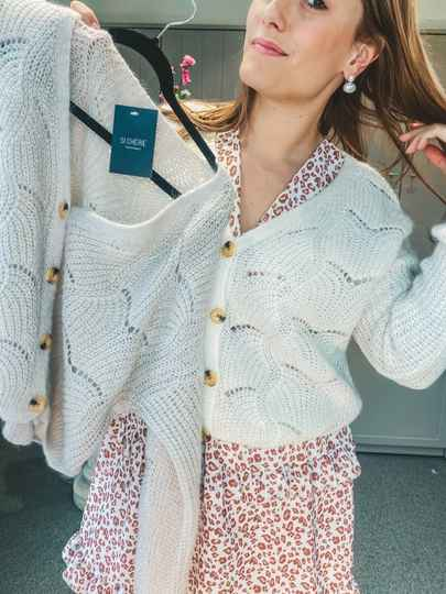 GILET : Duo creme and white