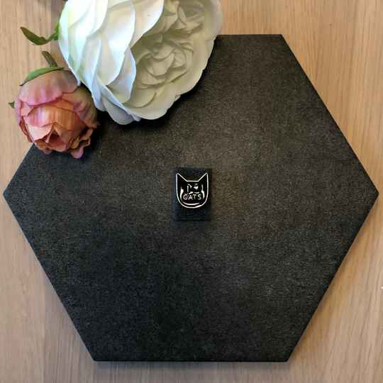 Pin I Love Cats zwart