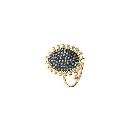 Ring Oval strass - goud