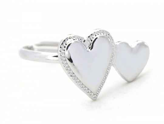 Ring Hearts - zilver