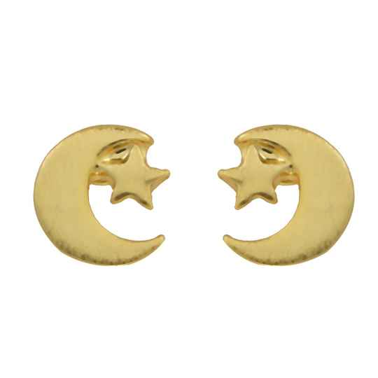 Studs Pretty moon star - goud