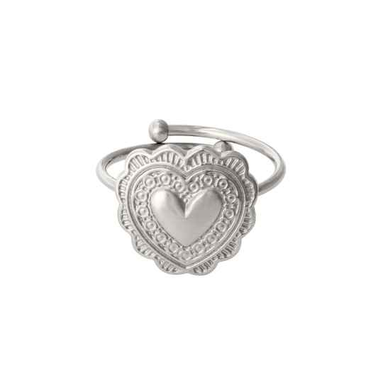 Ring True love - zilver