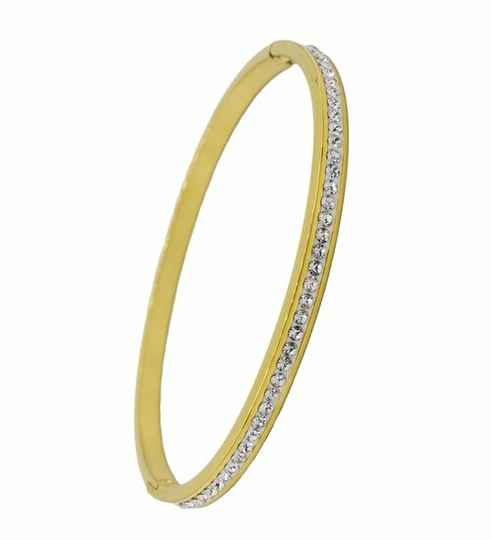 Bangle Strass 4mm - goud