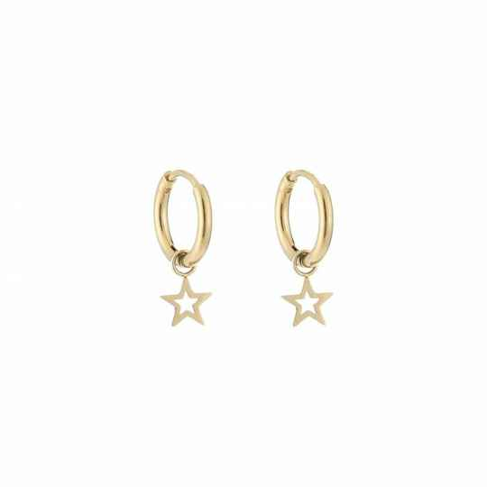 Oorbellen Little star - goud