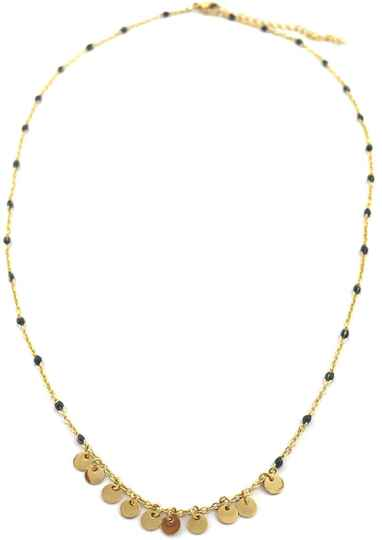 Ketting Beads & coins- goud