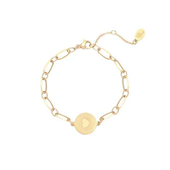 Armband In my heart - goud