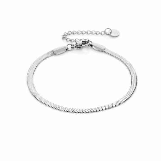 Armband Flat chain - zilver