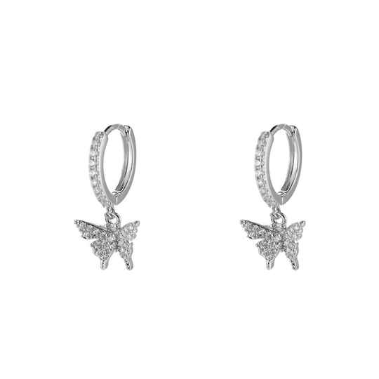 Oorbellen Butterfly dream - zilver
