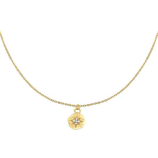 Ketting Hammered star - goud