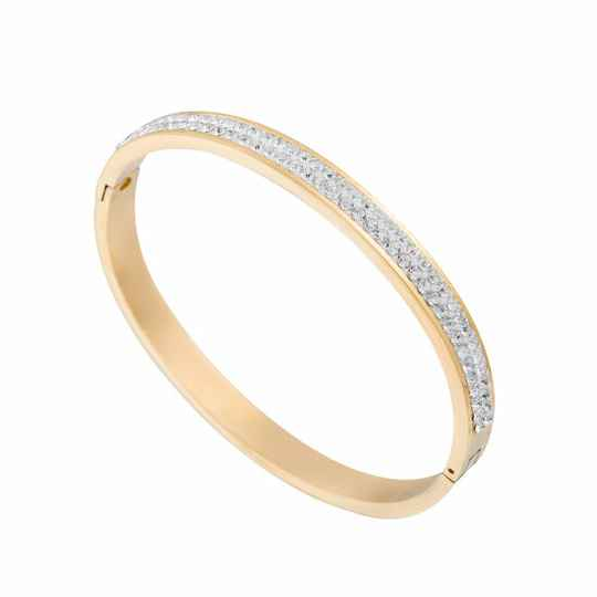Bangle Strass 6mm - goud