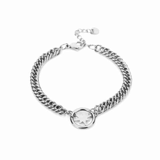 Armband Chain morning star - zilver