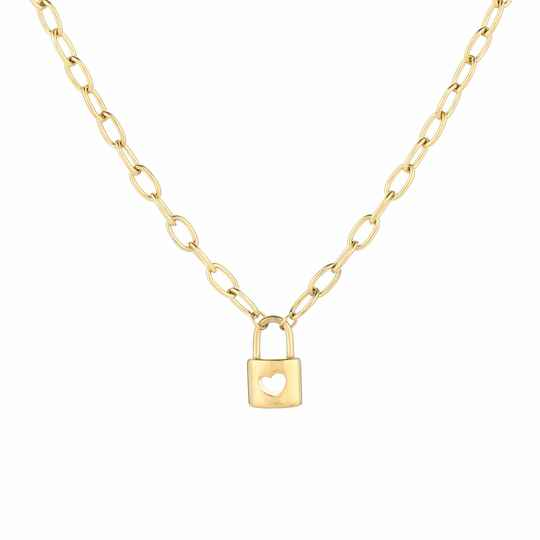 Ketting Open love lock - goud