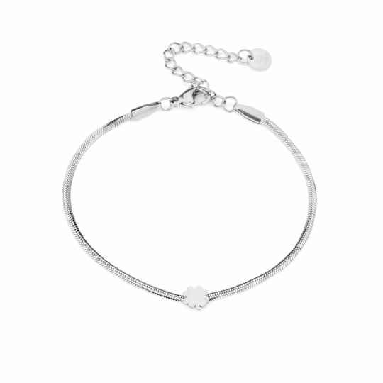 Armband  Four leave clover - zilver