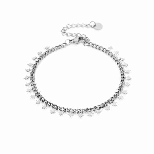 Armband Small morning star - zilver