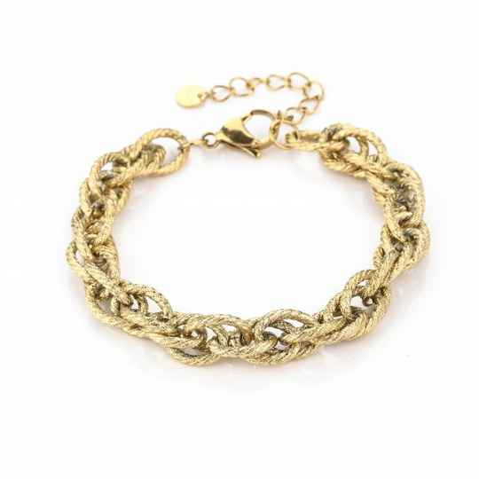 Armband Twisted chain - goud
