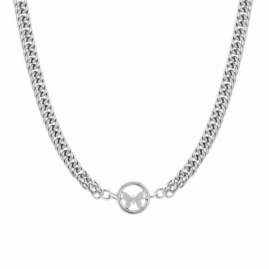 Ketting Butterfly of chain - zilver