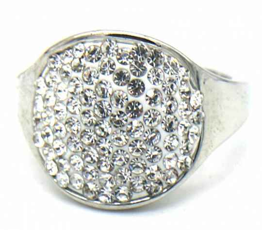 Ring Cristal - zilver