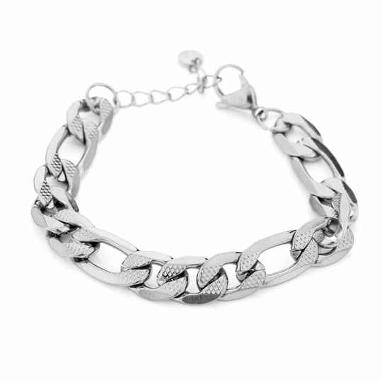 Armband Printy chain - zilver