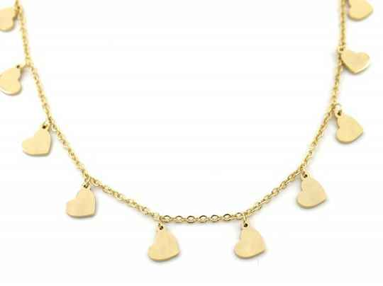 Ketting Hearts 5 mm - goud