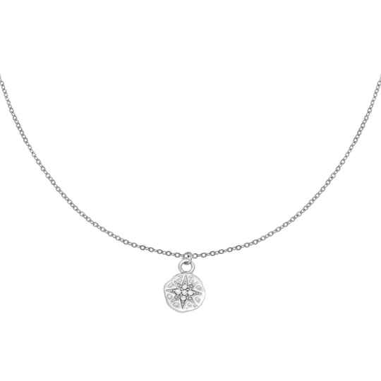 Ketting Hammered star - zilver