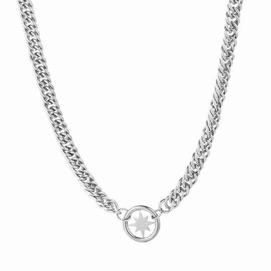 Ketting Chain morning star - zilver