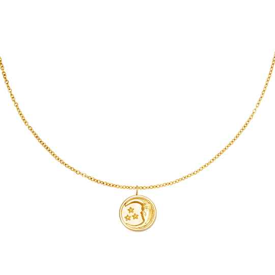 Ketting Glowing moon - goud