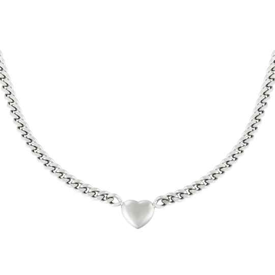 Ketting Chain of the heart - zilver