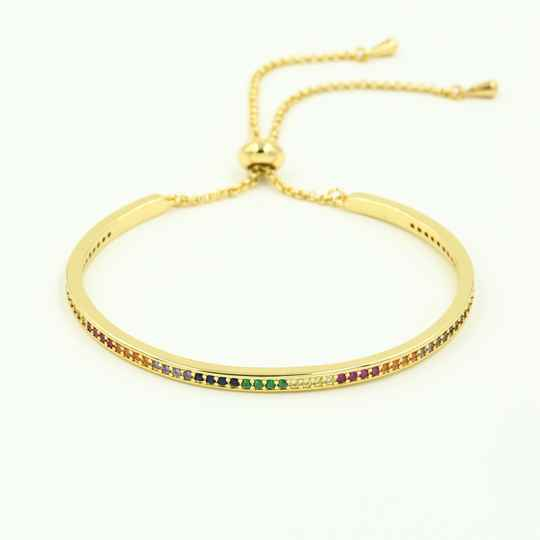 Bangle Zirkonia stones - goud