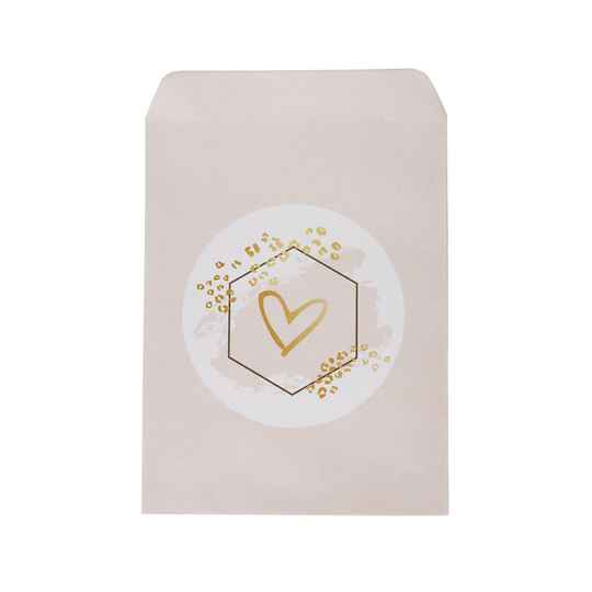 Small gift bag heart - lichtroze