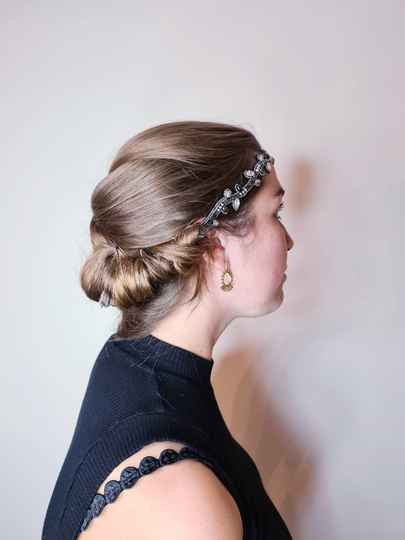 Pink Pewter Haaraccessoire Black thin