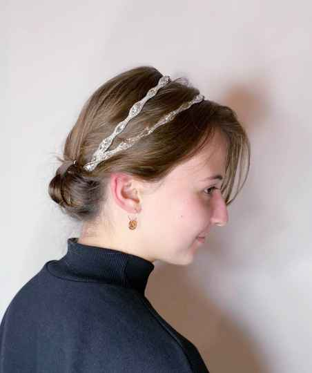 Pink Pewter Haaraccessoire Silver double