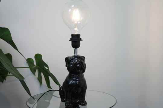 Housevitamin bulldog lamp zwart