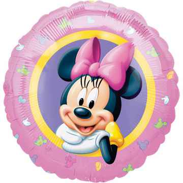 Folieballon Minnie Mouse junior 46 cm blauw