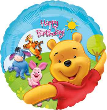 Folieballon Pooh & Friends junior 20,5 x 14,5 cm