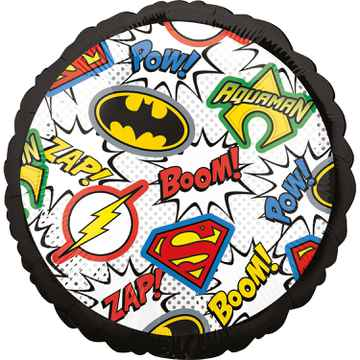 Folieballon Justice League 43 cm zwart/wit