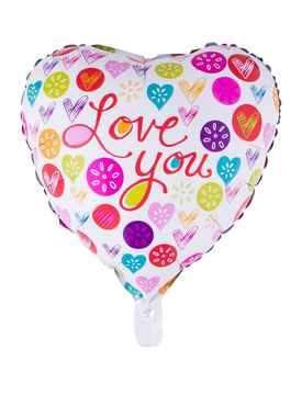 "Folieballon 18"" I love you"