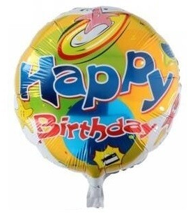 Folieballon Happy birthday starfish 46cm