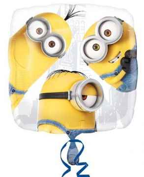 Folieballon Despicable Me Group 43 x 43 cm wit/geel