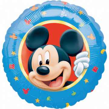 Folieballon Mickey Mouse junior 46 cm blauw