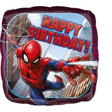 Folieballon Spiderman 'Happy Birthday 45 cm