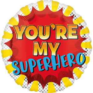 Folieballon You'Re My Superhero 43 cm geel/rood
